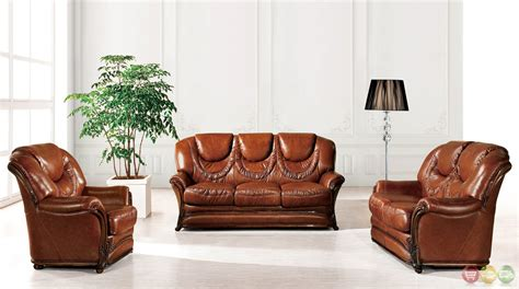 Leather Sleeper Sofa Bed by European Updated Traditional Umber Genuine Leather Sleeper