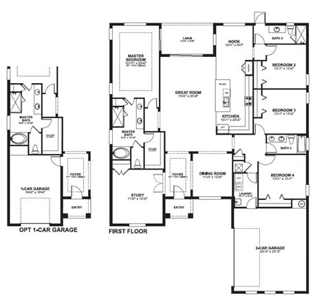 house plans two 28 4 bedroom 2 house plans one 4