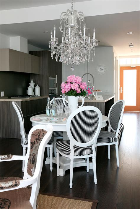 black  white dining chairs contemporary dining room