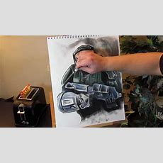 How To Draw Master Chief, Halo (time Lapse) Youtube