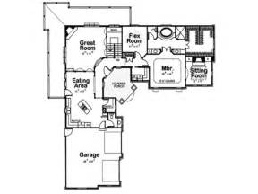 l shaped house plans with attached garage home floor plans