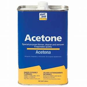 100% Pure Acetone, Quart Rockler Woodworking and Hardware