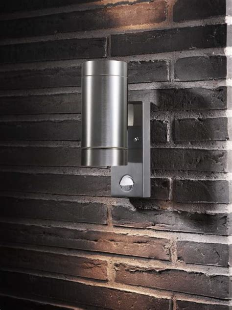 exterior up down wall light with pir