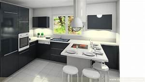 Aménagement Cuisine En U : cuisine en u quartz clair 38 cuisines raison ~ Melissatoandfro.com Idées de Décoration