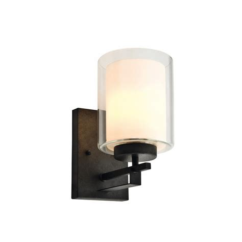 wall sconces home depot design house impala 1 light rustic bronze wall sconce