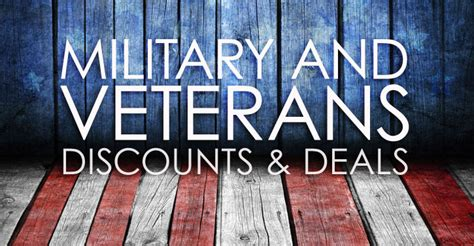list of 45 places that offer veteran discounts
