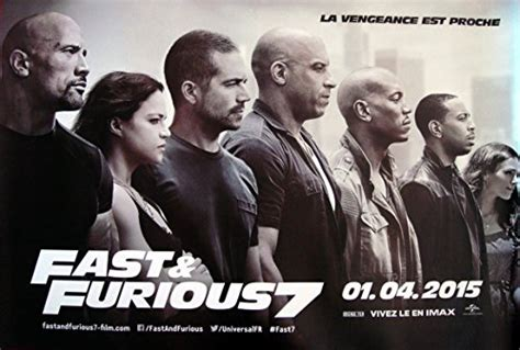 Fast And Furious 7 Movie Poster Affiche Size 23.5