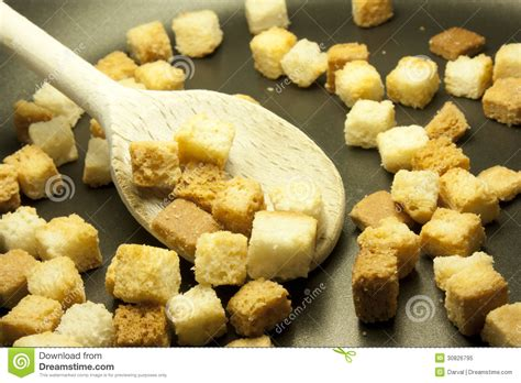 how to make bread cubes for croutons royalty free stock photo image 30826795