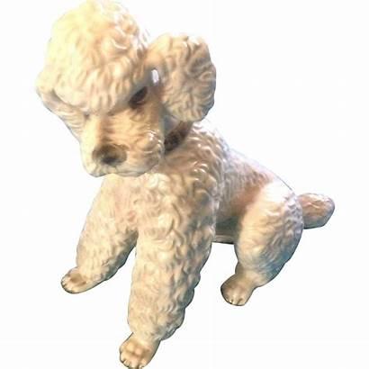 Keramos Poodle Wien Wein Porcelain Dog Figurine