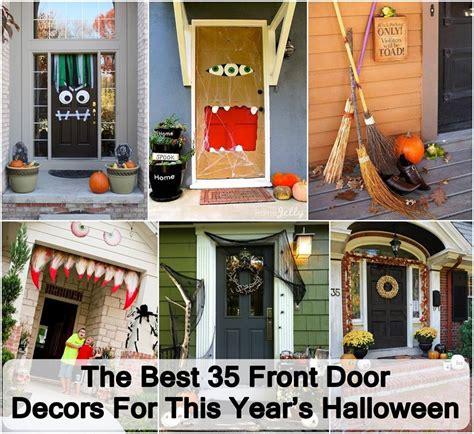 creative front door decors  halloween