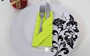 Porte Serviette En Papier : pliage de serviette la pochette range couverts facile ~ Teatrodelosmanantiales.com Idées de Décoration