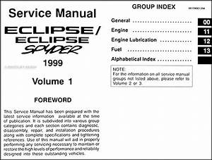 1999 Mitsubishi Eclipse Repair Shop Manual Set Original