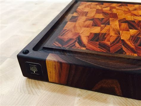 custom  walnut tigerwood cutting board  carolina