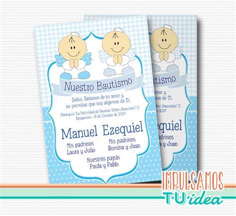 bautismo mellizos tarjeta bautismo mellizos para imprimir