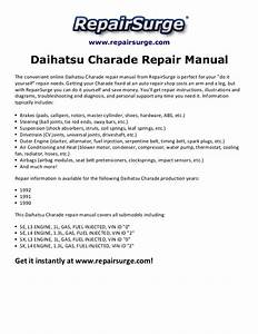 1990 Daihatsu Charade Repair Manual