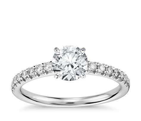 french pav 233 diamond engagement ring in 14k white gold 1 4