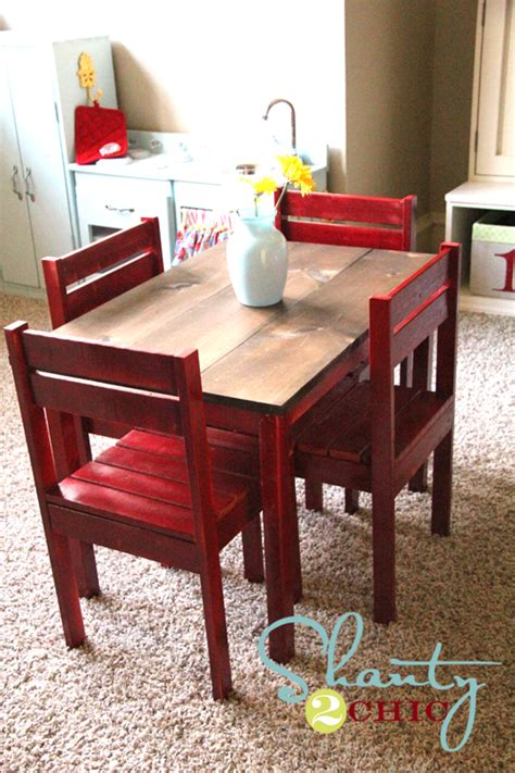pdf diy how to build a table and chairs gun