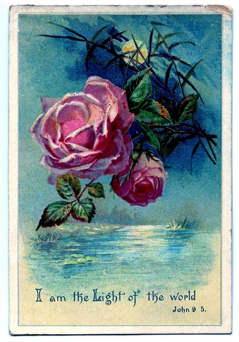 vintage clip art moonlight  roses   graphics fairy