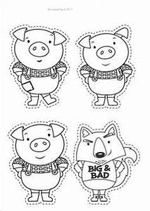 printable three little pigs house templates pig crafts With the three little pigs puppet templates