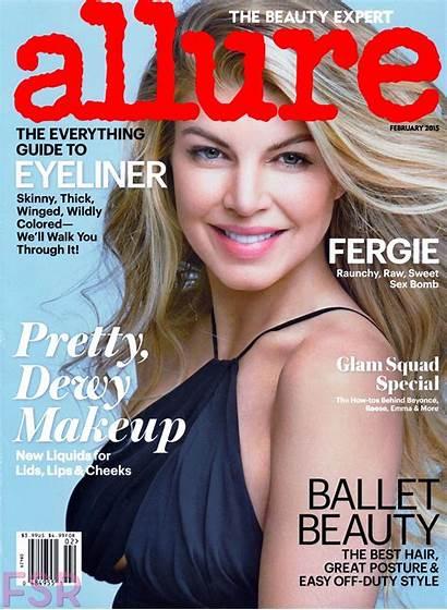 Magazine Allure Fergie February Stacy Ferguson