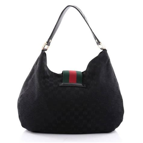 gucci  ladies web hobo gg canvas large  stdibs