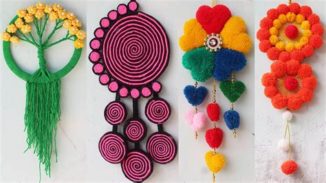 easy wall hanging craft ideas  wool youtube