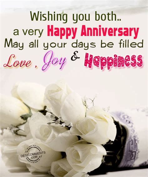 wishing  botha  happy anniversary    days  filled love joy happiness