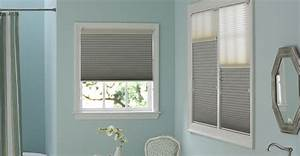 semisheer cellular shades in off white fern linen With 5 basic bathroom window treatments