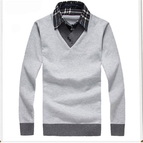 cool sweaters for guys high quality 2015 pullover shirt collar sweater