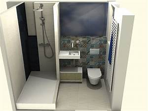 petite salle de de bains youtube With agencement salle de bain 5m2