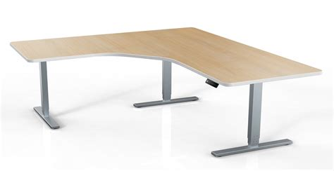 Product Of The Week A Desk L With A Mid Air Suspended Switch by Sit Stand L Shaped Desks Green Cube Chairs
