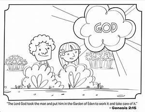 Adam and Eve  Bible Coloring Pages What's in the Bible?