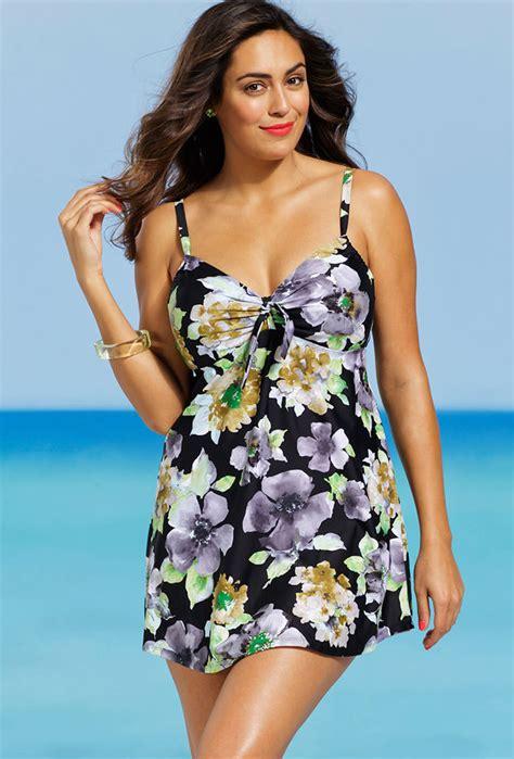 shore club  size blossom underwire  piece swimdress