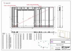 coupe maison ossature bois nn46 montrealeast With plan de maison moderne 1 plan facades maison ossature bois primaude epure bois