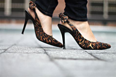 jrenee leopard bow slingback pumps bows sequins