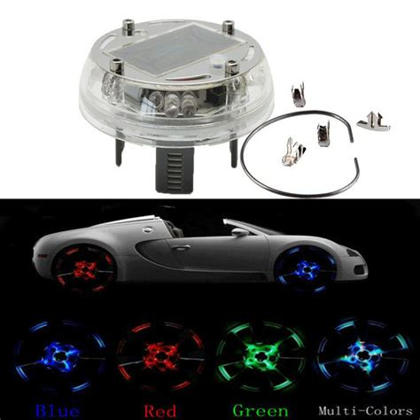 Wheel Lights Car by Car Wheel Center Caps Hub Solar 12 Led Flash Light
