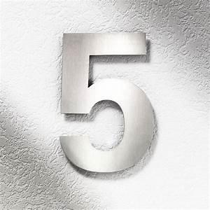 Numéro Maison Design : plaque num ro de maison 25 cm inox bross 4mepro ~ Premium-room.com Idées de Décoration