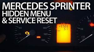How To Reset Service Reminder In Mercedes Sprinter  Hidden