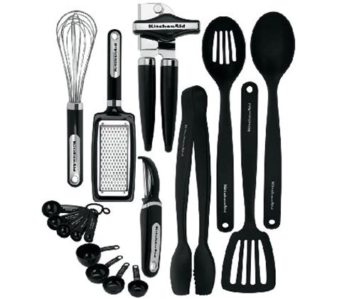 qvc kitchen gadgets kitchenaid 17 tool gadget set qvc