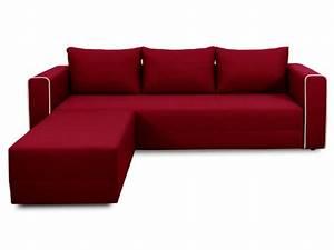 Canapé D Angle 5 Places : canap d 39 angle convertible 5 places en tissu laura angle coloris rouge vente de canap d 39 angle ~ Teatrodelosmanantiales.com Idées de Décoration