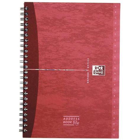 reliure bureau reliure integrale address book 160p 14 8x21 oxford office