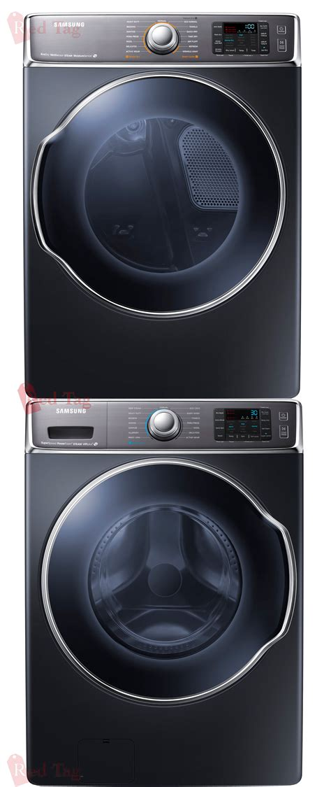 black washer and dryer samsung 5 6 cf steam front load washer 9 5 cf