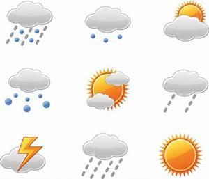 天气图标矢量素材天下预报标志下雨下雪雨天雪天晴雷阵雨心情日记 素材之家