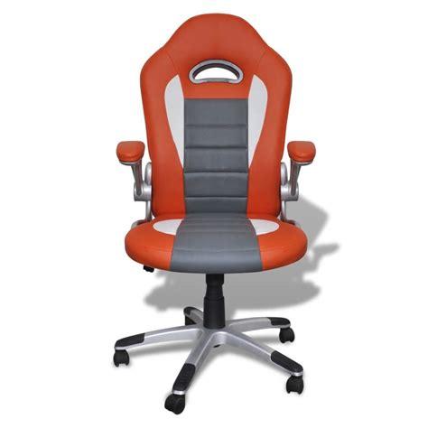 Sedia Ufficio Pelle Sedia Ufficio In Pelle Design Moderno Arancione Vidaxl It