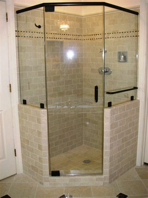 Shower Door For Shower Stall by Bathroom Shower Stall Design Idea With Glass Door And