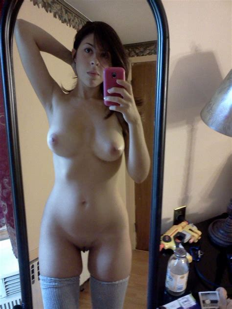 Teen Amateur Selfies Naked Nude Thigh Highs Thick Thighs