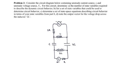 Solved Consider The Circuit Diagram Below Containing Unst
