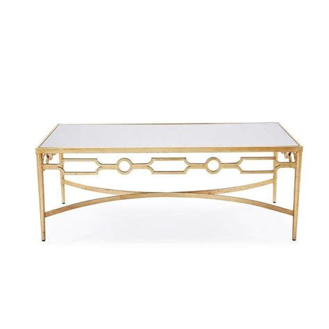 gold mirrored coffee table interlude larissa mirrored coffee table with gold leaf finish
