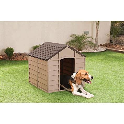 hundehuette hundehaus aus kunststoff mokka braun marke