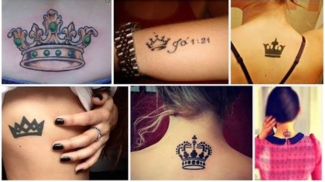 unique crown tattoo designs  embrace royalty styles  life